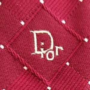 Men's CHRISTIAN DIOR necktie made for Burdine red